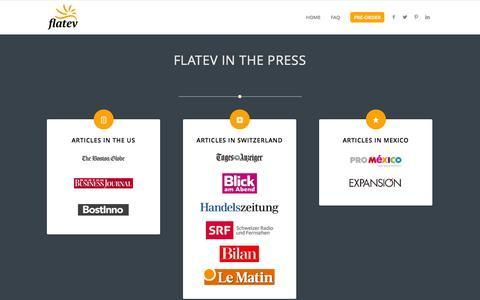 Screenshot of Press Page flatev.com - Press - flatev - captured Sept. 16, 2014