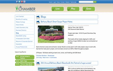 Screenshot of Blog bethany-fenwick.org - Blogs | Bethany-Fenwick Area Chamber of Commerce - captured Oct. 5, 2014