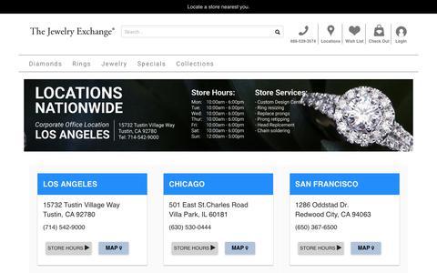 Screenshot of Locations Page jewelryexchange.com - The Jewelry Exchange store locater. - captured Sept. 24, 2019