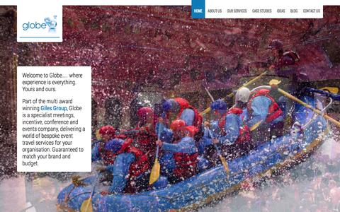 Screenshot of Home Page globeevents.co.uk - Globe Events | Experience is everything. - captured Sept. 30, 2014