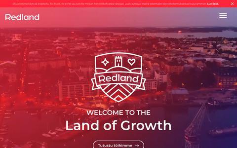 Screenshot of Home Page redland.fi - Mainostoimisto Helsinki - Redland - captured Oct. 20, 2018