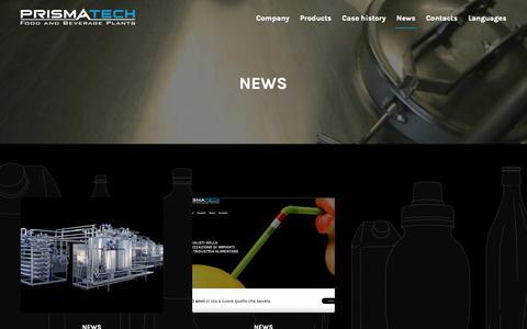 Screenshot of Press Page syruproom.com - News - Prismatech - captured Sept. 29, 2018