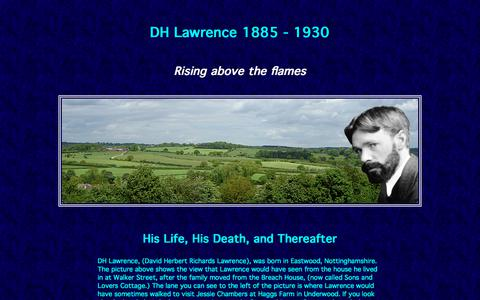 Screenshot of 000webhostapp.com - DH Lawrence - An illustrated biography. His life and death. - captured July 11, 2018