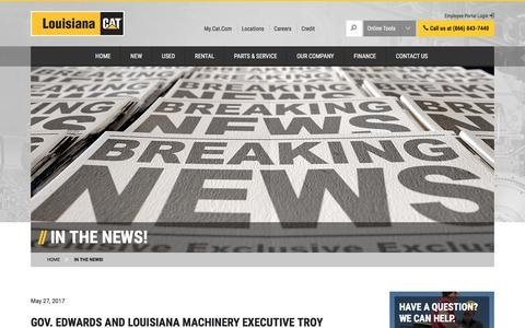 Screenshot of Press Page louisianacat.com - In the News! | Louisiana Cat - captured Sept. 10, 2017