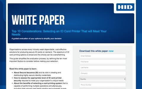 Screenshot of Landing Page hidglobal.com - HID Global-WP-Secure ID Card Printer - captured Sept. 11, 2018