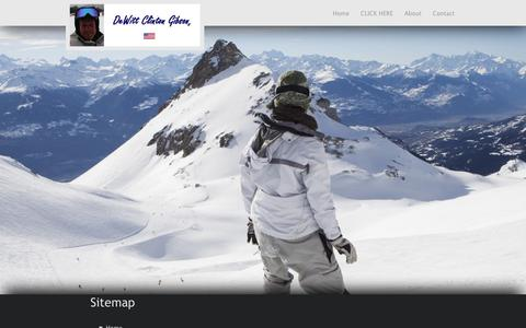 Screenshot of Site Map Page dewittgibson.com - DeWitt Gibson - Home - captured June 4, 2017