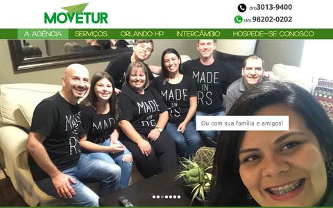 Screenshot of Home Page movetur.com.br - Movetur - captured Oct. 20, 2018