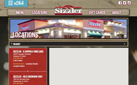 Screenshot of Locations Page sizzler.com - Locations - Sizzler - captured Sept. 19, 2014