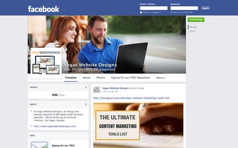 Screenshot of Facebook Page facebook.com - Vegas Website Designs - Henderson, Nevada - Web Design, Web Development | Facebook - captured Oct. 25, 2014
