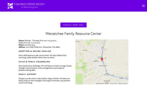Screenshot of Locations Page childrenshomesociety.org - Chelan and Douglas — Children's Home Society of Washington - captured July 29, 2017
