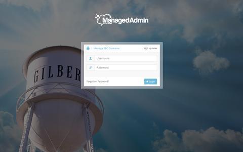 Screenshot of Login Page managedadmin.com - Managed Admin   SEO Domain Manager - captured Dec. 21, 2015