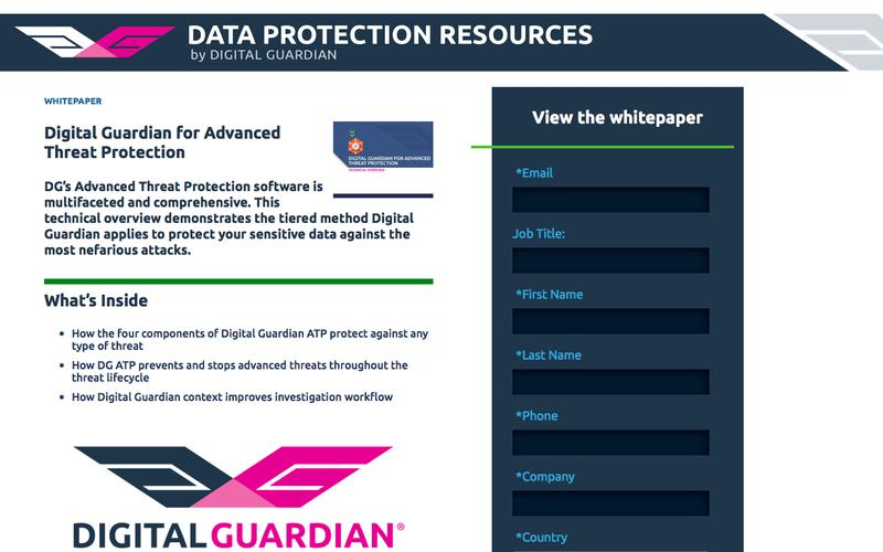 Whitepaper | Digital Guardian for Advanced Threat Protection