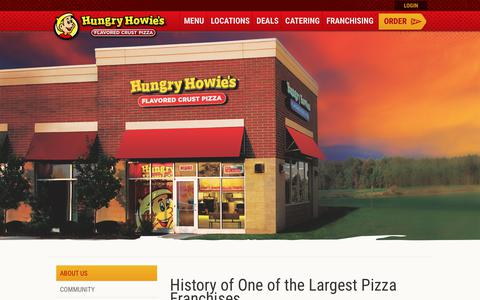 Screenshot of About Page hungryhowies.com - History of One of the Largest Pizza Franchises   Hungry Howies - captured June 30, 2017