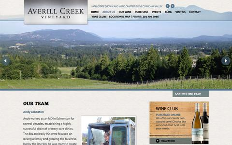 Screenshot of Team Page averillcreek.ca - Our Team - captured Nov. 2, 2014