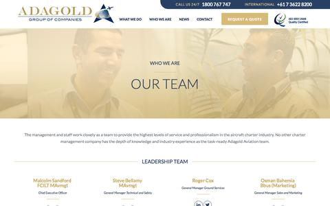 Screenshot of Team Page adagold.com.au - Our Team | Adagold - captured Feb. 5, 2016