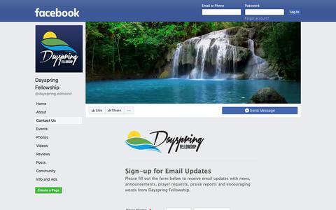 Screenshot of Contact Page facebook.com - Dayspring Fellowship | Facebook - captured Oct. 8, 2018