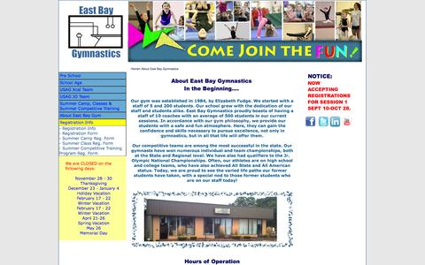 Screenshot of Contact Page Maps & Directions Page ebgym.com - About East Bay Gymnastistics School, Bristol, RI - captured Oct. 27, 2014