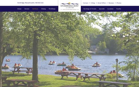 Screenshot of Services Page sturbridgehosthotel.com - Charming Sturbridge Hotel - Sturbridge Host Hotel - captured Dec. 18, 2016
