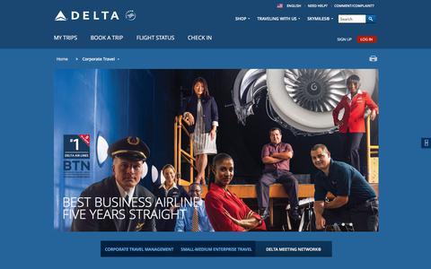 Corporate Travel : Delta Air Lines
