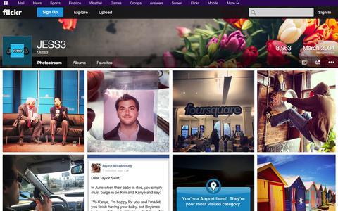 Screenshot of Flickr Page flickr.com - Flickr: *JESS3's Photostream - captured Oct. 23, 2014