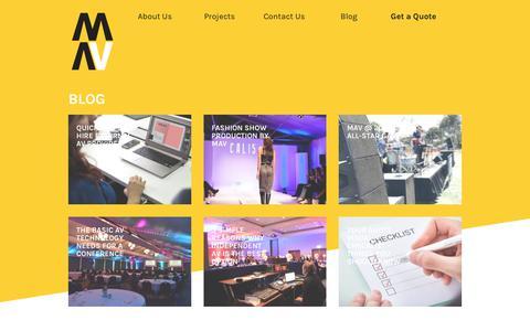 Screenshot of Blog mav.com.au - Blog   MAV Audio Visual - captured Oct. 18, 2018