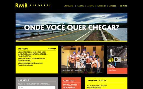 Screenshot of Home Page rmbesportes.com - RMB Esportes - captured Sept. 30, 2014
