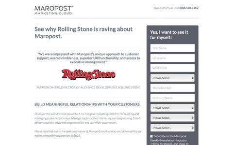 Request a Demo | Maropost Marketing Cloud