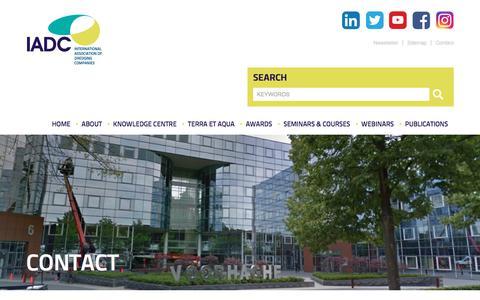 Screenshot of Contact Page iadc-dredging.com - Contact - IADC Dredging - captured Nov. 24, 2019