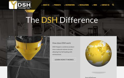 Screenshot of Home Page dshsystems.com - DSH dust control systems - captured Oct. 7, 2018