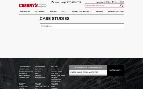 Screenshot of Case Studies Page material-handling.com - Case Studies - captured Oct. 2, 2014