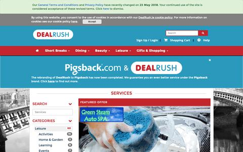Screenshot of Services Page dealrush.ie - Ireland's Best Daily Deals Site | DealRush.ie - captured Oct. 5, 2018