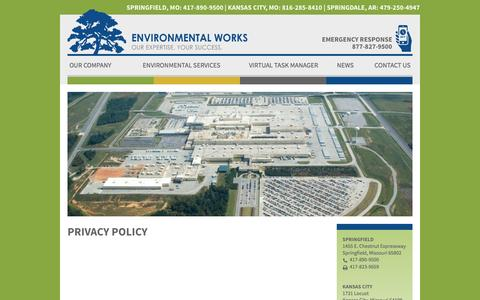 Screenshot of Privacy Page environmentalworks.com - Privacy Policy | Environmental Works - captured Nov. 9, 2016