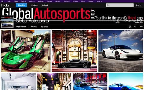 Screenshot of Flickr Page flickr.com - Flickr: Global Autosports' Photostream - captured Oct. 22, 2014