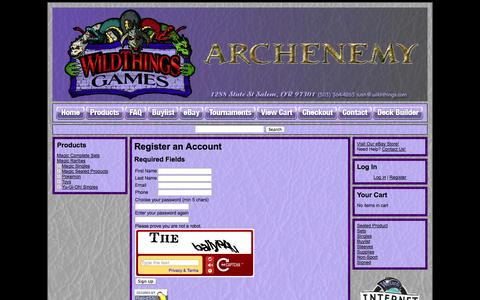 Screenshot of Signup Page crystalcommerce.com - Wild-Things - - captured Oct. 29, 2014