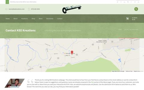 Screenshot of Contact Page keekreations.com - KEE Kreations  | Contact KEE Kreations - captured Sept. 30, 2014