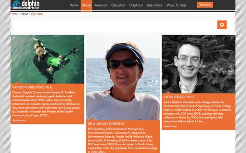 Screenshot of Team Page dolphincommunicationproject.org - Our Team - captured Aug. 7, 2018