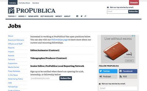 Jobs — ProPublica