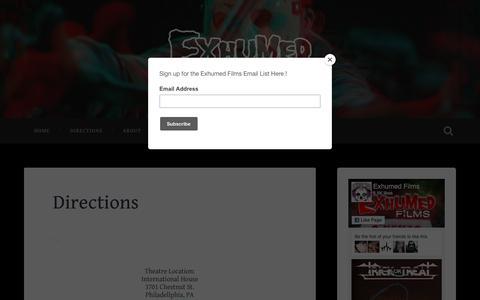 Screenshot of Maps & Directions Page wordpress.com - Directions - captured Feb. 23, 2018