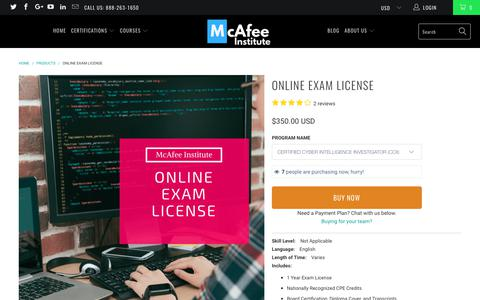 Exam Voucher - McAfee Institute