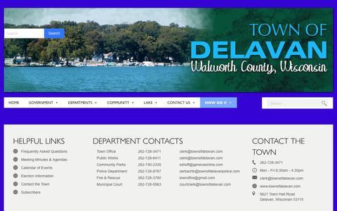 Screenshot of Privacy Page townofdelavan.com - Error 404 Not Found   Town of Delavan, Walworth County, Wisconsin - captured May 10, 2017