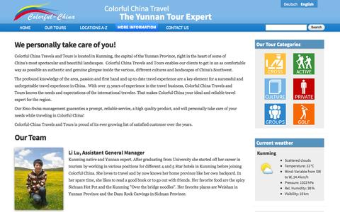 Screenshot of About Page colorfulchinatravel.com - About Us | The Yunnan Tour Expert - captured Oct. 8, 2014