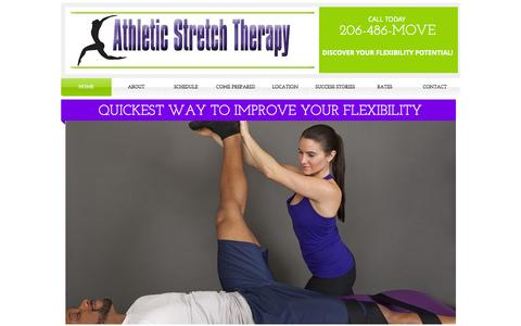 Screenshot of Home Page athleticstretchtherapy.com - athleticstretch - captured Sept. 30, 2014