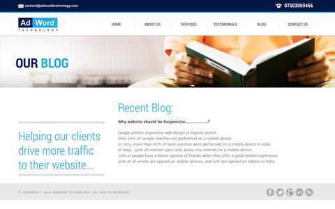 Screenshot of Blog adwordtechnology.com - AdWord Technology|Blog - captured Sept. 30, 2014