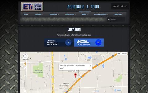 Screenshot of Locations Page eticampus.com - ETI School of Skilled Trades Location | ETI School of Skilled Trades - captured Oct. 1, 2014