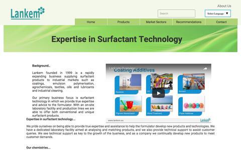 Screenshot of About Page lankem.eu - About us ¦ Lankem Surfactants - captured July 5, 2017