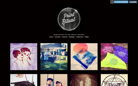 Screenshot of Blog bigcartel.com - Blog | Print Ritual - captured Sept. 19, 2014