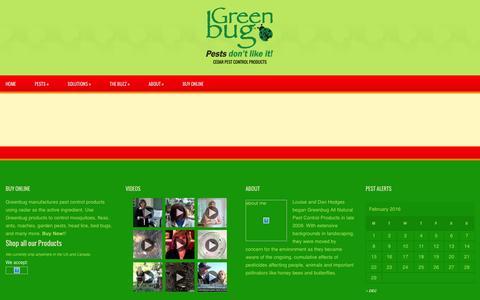 Screenshot of FAQ Page greenbugallnatural.com - Faq | Greenbug - captured Feb. 1, 2016