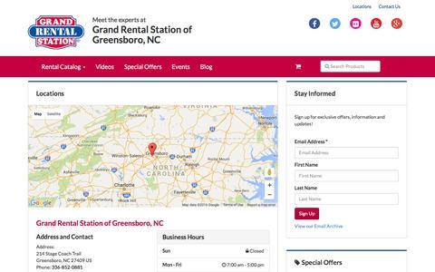 Screenshot of Locations Page grandrentaltriad.com - Locations   Grand Rental Station of Greensboro, NC- Greensboro, NC - captured Feb. 1, 2016