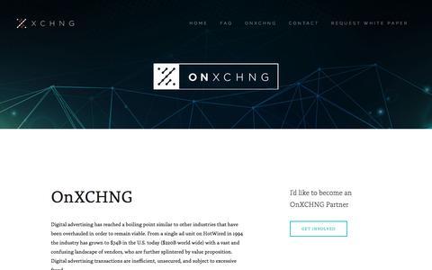 OnXchng — XCHNG