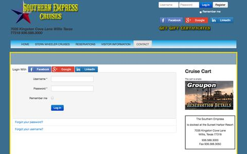 Screenshot of Login Page southernempress.com - Log In - captured Nov. 5, 2014